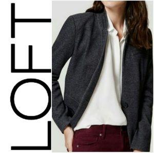 LOFT Notched Collar Knit Blazer